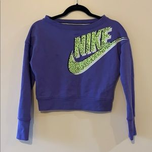 Nike crop top sweatshirt